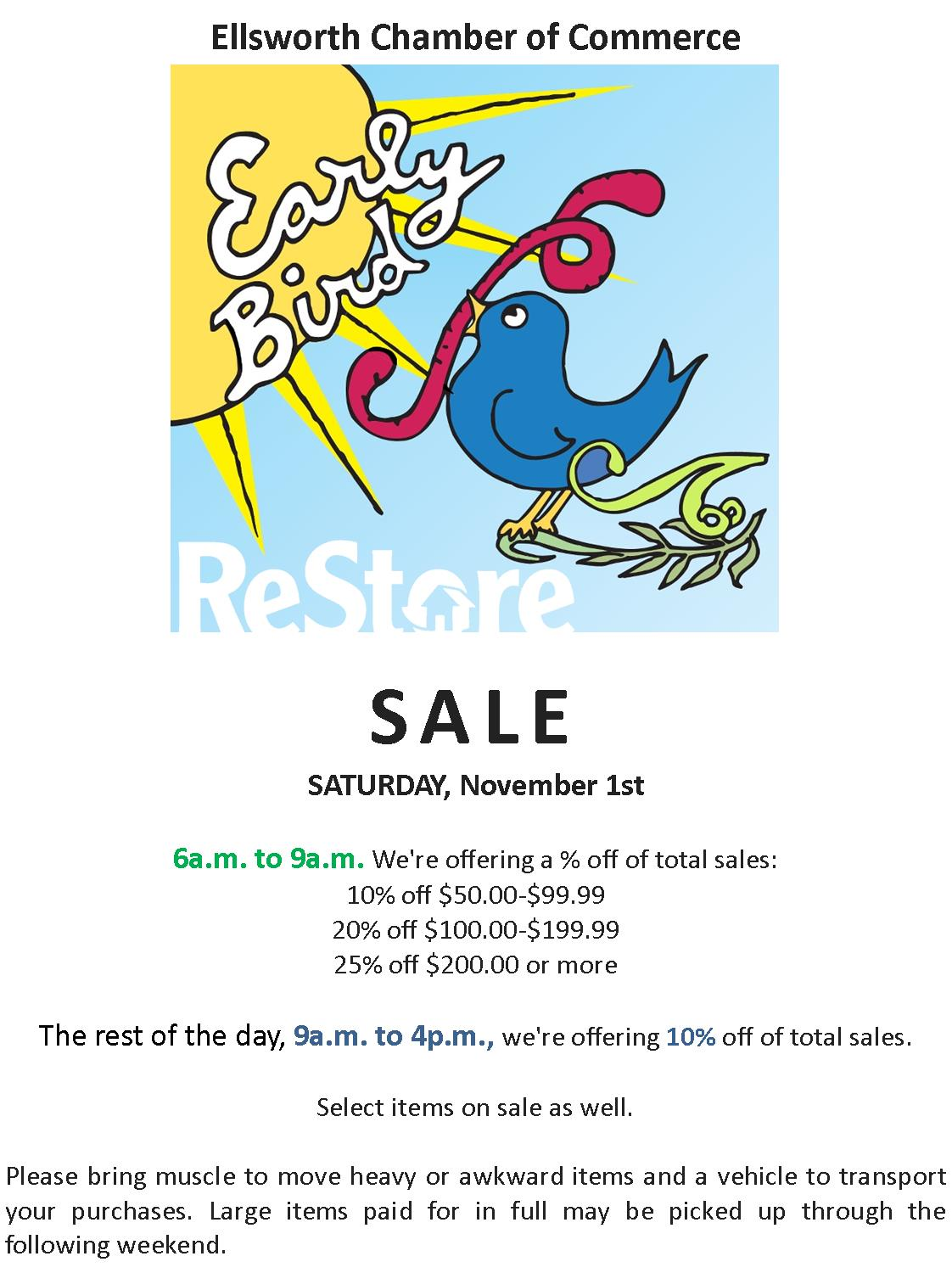 Early Bird Sale image for Media ReStore