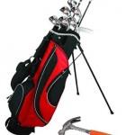 Golf club and hammer